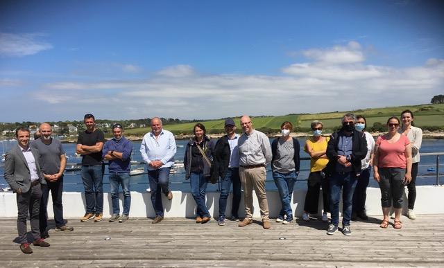 Le personnel de Breizhmer, du CDPMEM Bretagne, des CRDPMEMs, du CRC et des centres techniques en visite à PORSCAVE